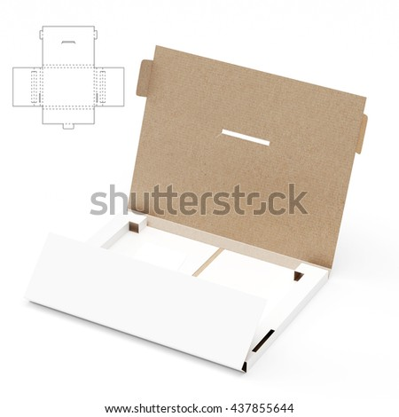 Slim retail box blueprint template protection stock illustration slim retail box with blueprint template and protection shipping 3d rendering malvernweather Gallery