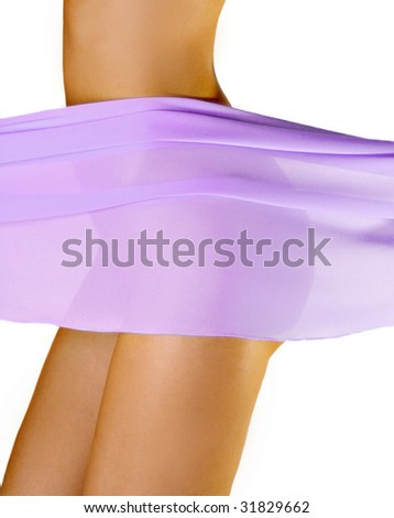 slim woman figure - stock photo