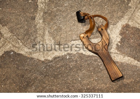 slingshot - stock photo
