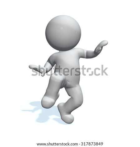 slink - 3D People isolated - stock photo
