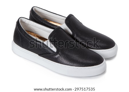 slip-on casual shoes - stock photo