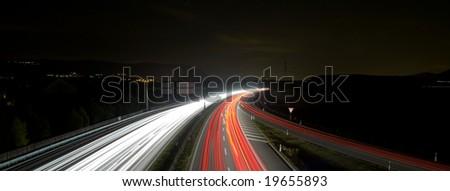 slip road - stock photo