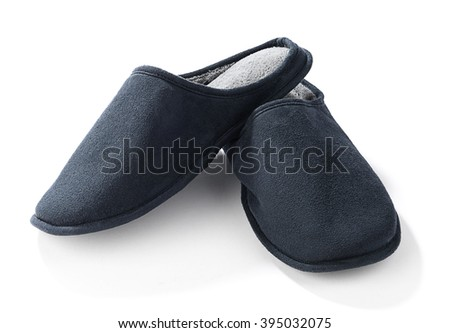 Slippers Isolated - stock photo