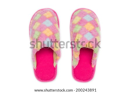 slippers isolated on a white background