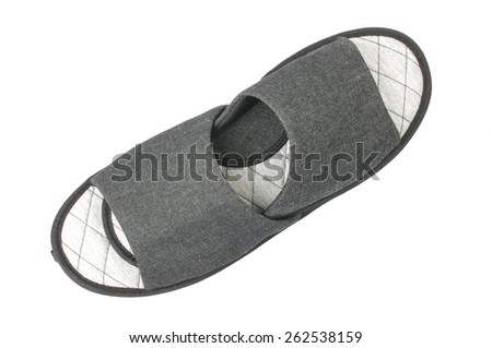 Slippers isolated with clipping path - stock photo