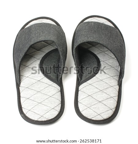 Slippers rare view isolated on the white background - stock photo