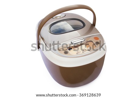 slo-cooker on a white background, isolated - stock photo