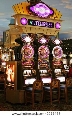 Slot machine in Las Vegas - stock photo