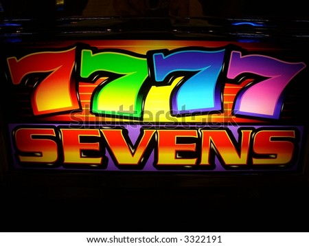 slot machine logo - stock photo