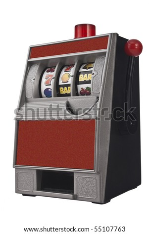 Slot machine with no writings - stock photo
