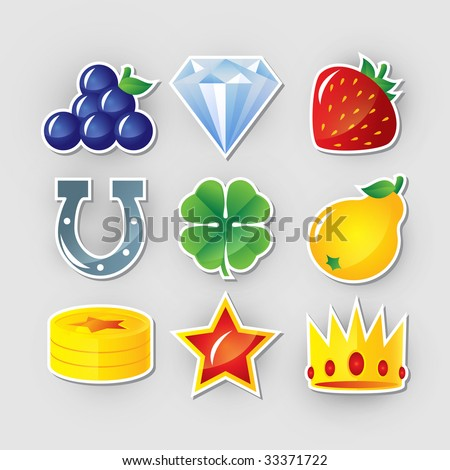 Slot symbols set 2. - stock photo