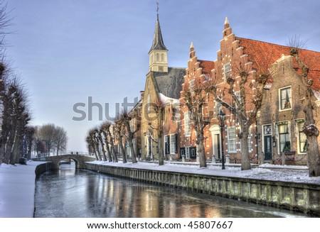 Sloten (the Netherlands) - stock photo