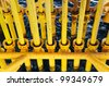 Slots for Oil and Gas Producing Casing at Offshore Platform - Petroleum Industry - stock photo