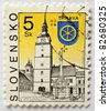 SLOVAKIA - CIRCA 1994: a stamp from Slovakia shows image of a church in Trnava, circa 1994 - stock photo