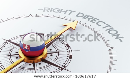 Slovakia High Resolution Right Direction Concept