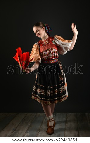Slovakian folklore dancer