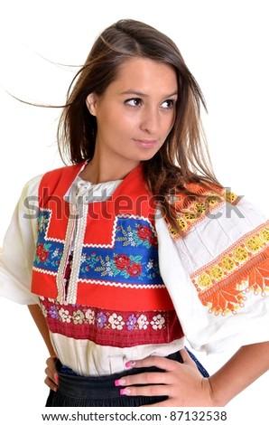 slovakian folkore - stock photo