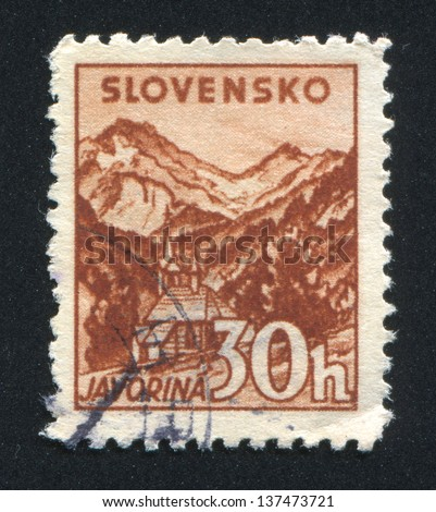 SLOVENIA - CIRCA 1940: stamp printed by Slovenia, shows Church at Javorina, circa 1940