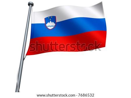 Slovenia Flag - stock photo