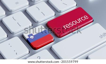 Slovenia High Resolution Resource Concept - stock photo