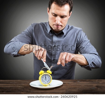 Slow restaurant service concept - stock photo