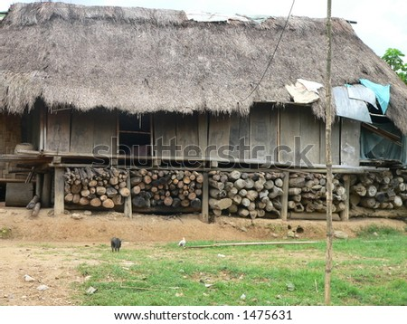 Slum House in Quang Tri, Vietnam - stock photo