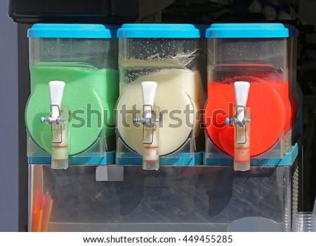 Slush Machine Frozen Beverage Dispenser - stock photo