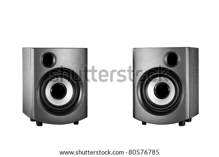 Small acoustic system - stock photo