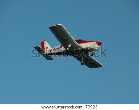 Small aircraft in flight - stock photo