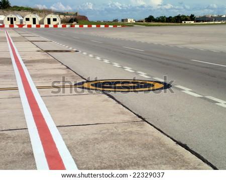 Small Aircraft Runway Hub - stock photo