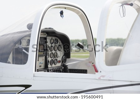 Small Airplane Cabin - stock photo