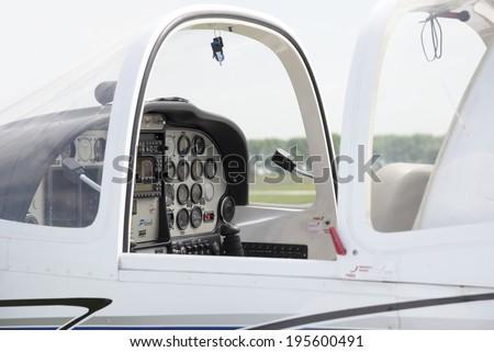 Small Airplane Cabin - stock photo