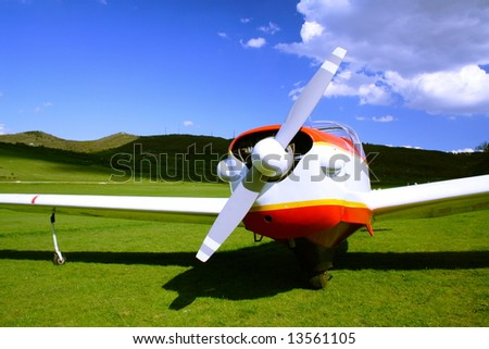 small airplane on the ground