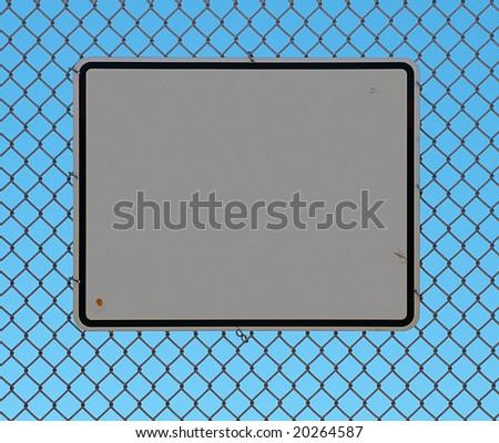 small amounts of grunge, blue sky background - stock photo