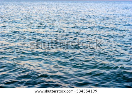 Small and calm blue wave ripples on lake Balaton, Hungary