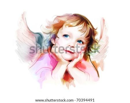 Small angel - stock photo