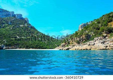 small beach in Orosei Gulf, Sardinia - stock photo