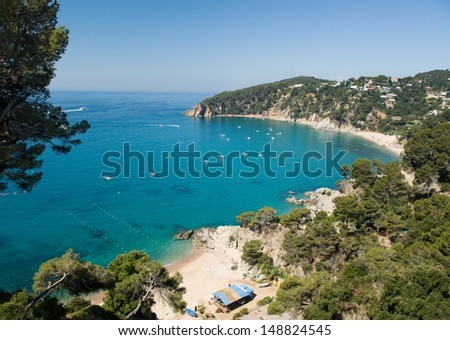 Small beach near Tossa De Mar in Costa Brava, Spain