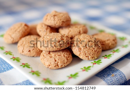 Small biscuits for dessert - stock photo
