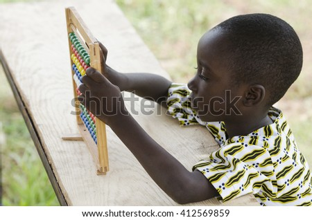Small Black African Child Playing