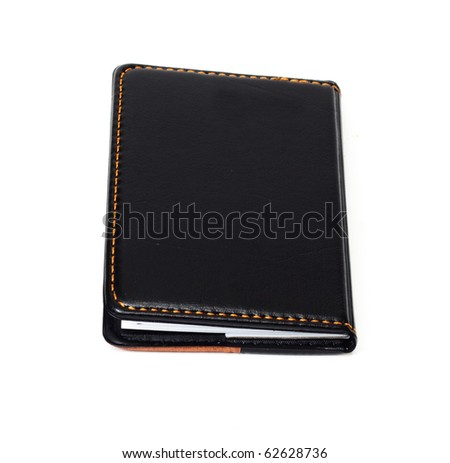 Small black notebook with blank cover