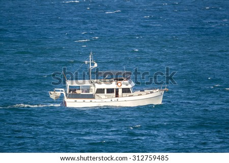 Small boat - stock photo