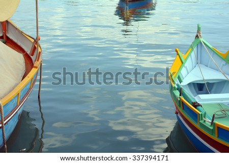 Small boats in the water.