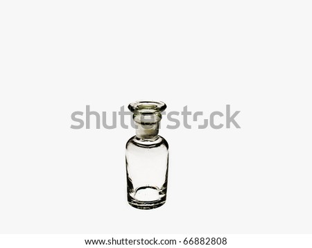 small bottle isolated - stock photo