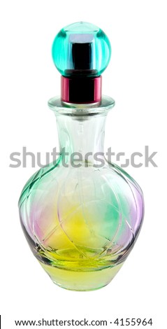 Small bottle of perfume, isolated object with clipping path.