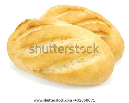 Small bread bun on a white background     - stock photo