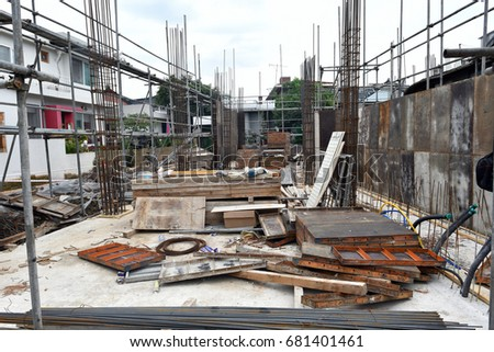 Small Building Construction Site Stock Photo 681401461 Shutterstock