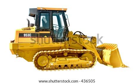 Small Bulldozer - stock photo
