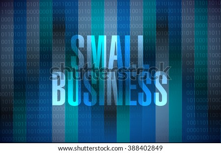 small business binary background sign concept illustration design graphic