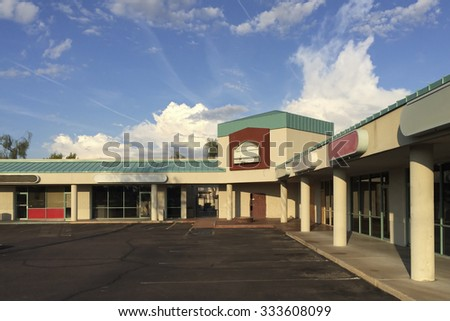 Small business center waiting for new tenants for its empty offices, Phoenix, AZ - stock photo